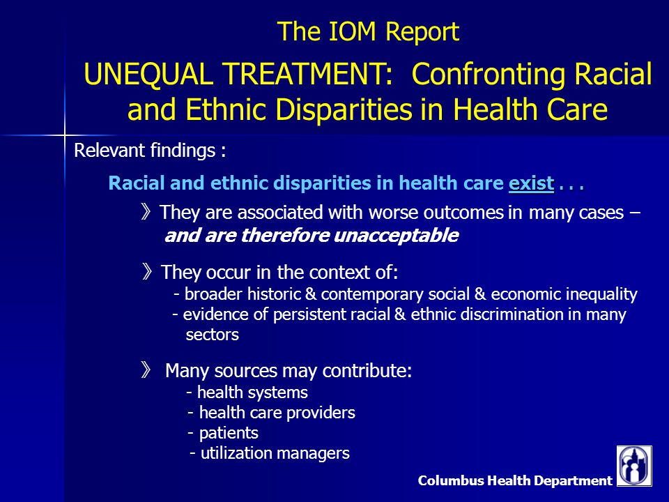 ethnic inequality in health care essay The purpose of this essay is to firstly give an overview of the existence of inequalities of health related to ethnicity, by providing some evidence that ethnic inequality in health is a reality in the society and include definitions of keywords secondly, i will bring forward arguments for and .