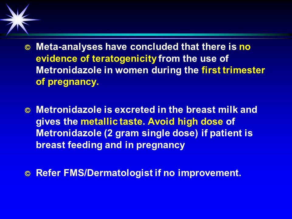 Metronidazole headache