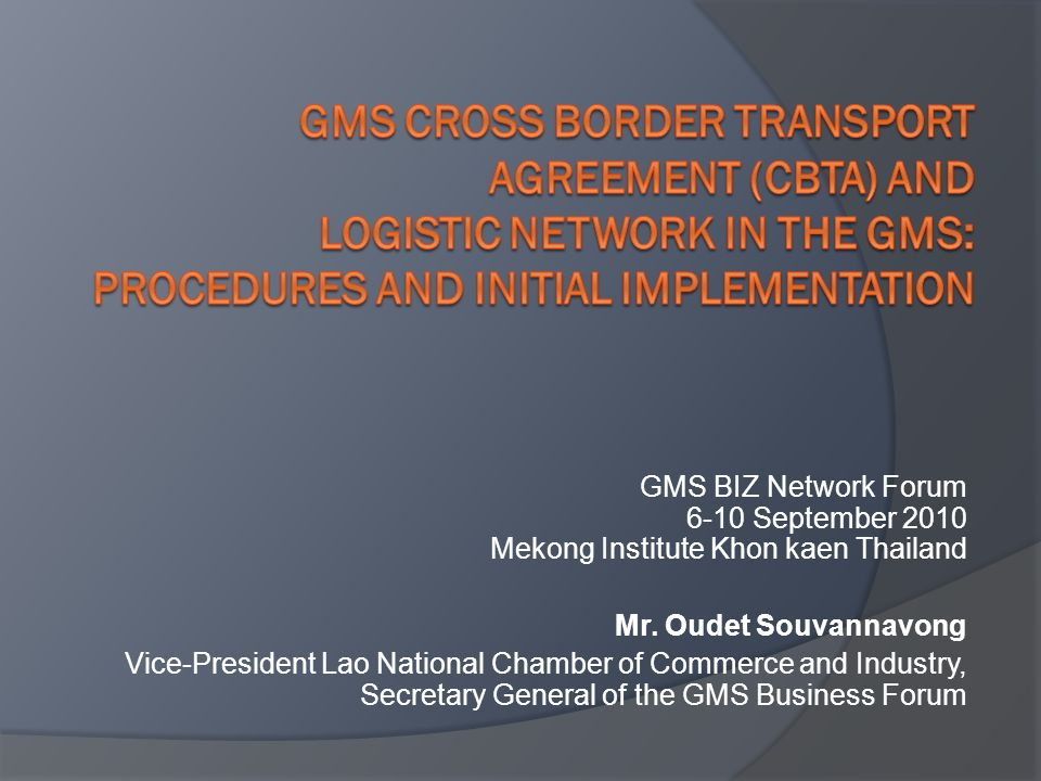 Gms cross border transport agreement cbta and logistic network in gms cross border transport agreement cbta and logistic network in the gms procedures platinumwayz