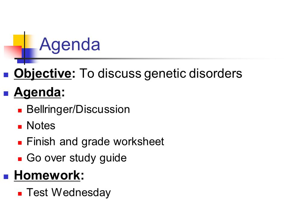 Heredity 21914 Heredity is what causes the parents of a – Genetic Disorders Worksheet