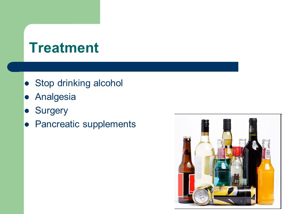 Treatment Stop drinking alcohol Analgesia Surgery
