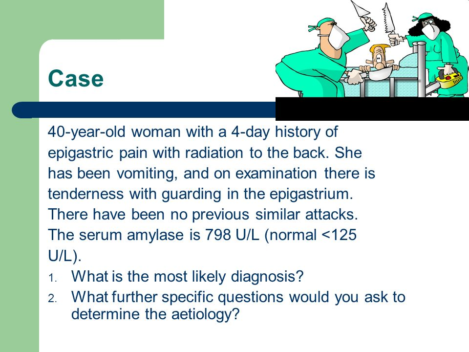 Case 40-year-old woman with a 4-day history of