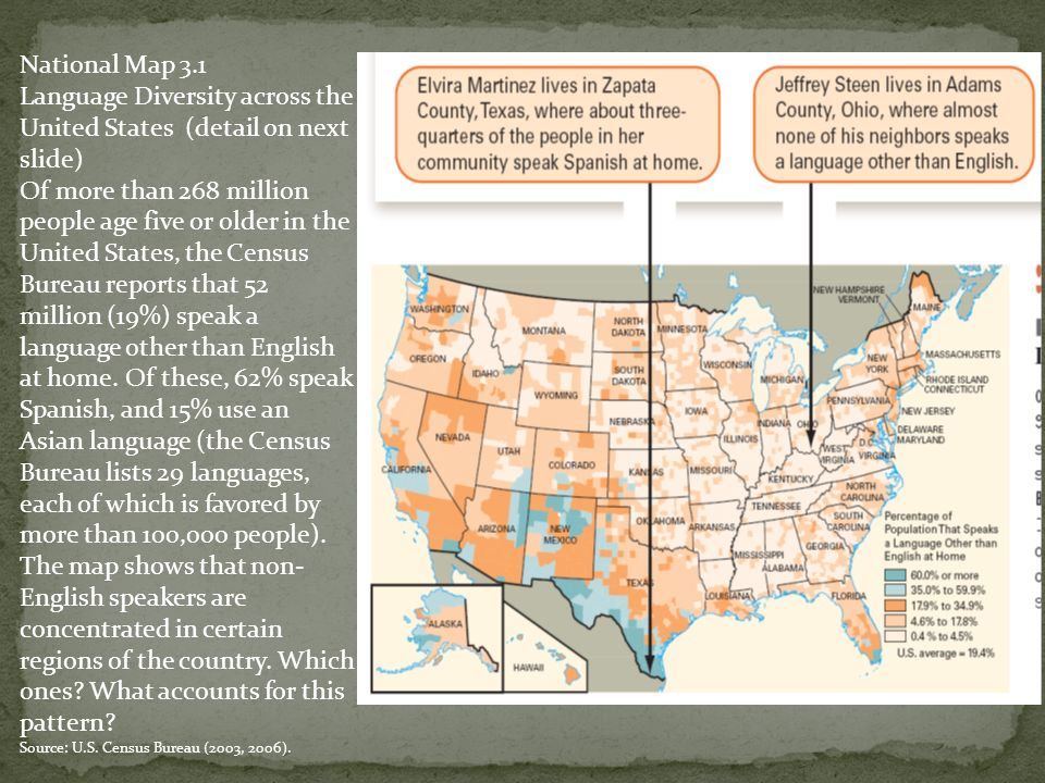 Language Maps Us Globalinterco - Lucas and bailey map of us deaf schools