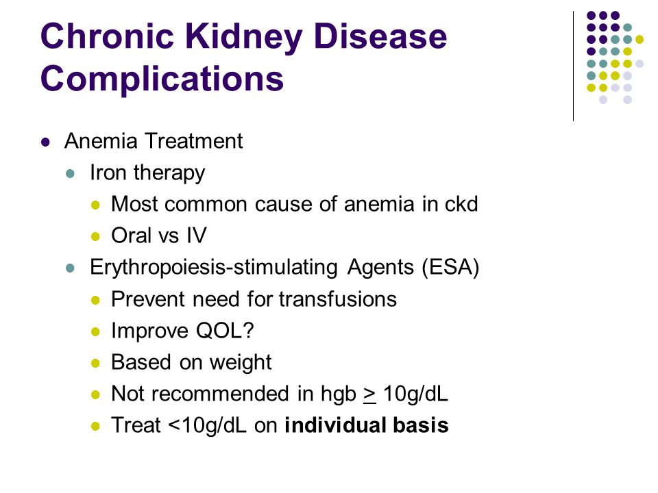 Chronic Kidney Disease Complications