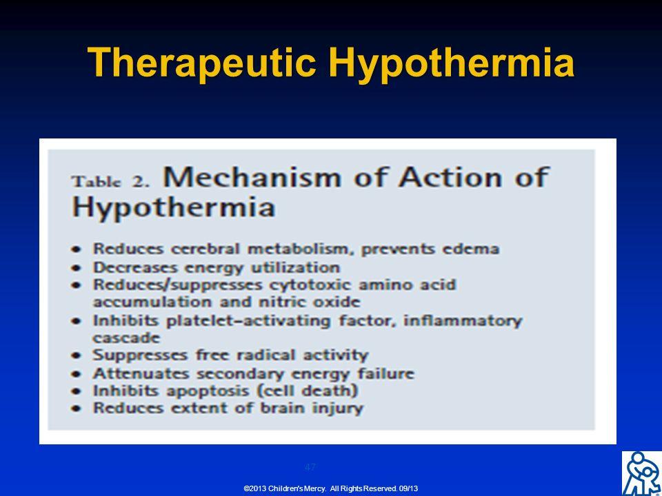 theraputic hypothermia essay