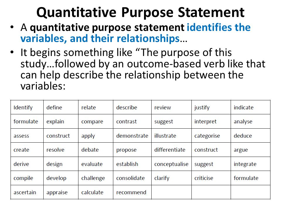 purpose of quantitative research pdf