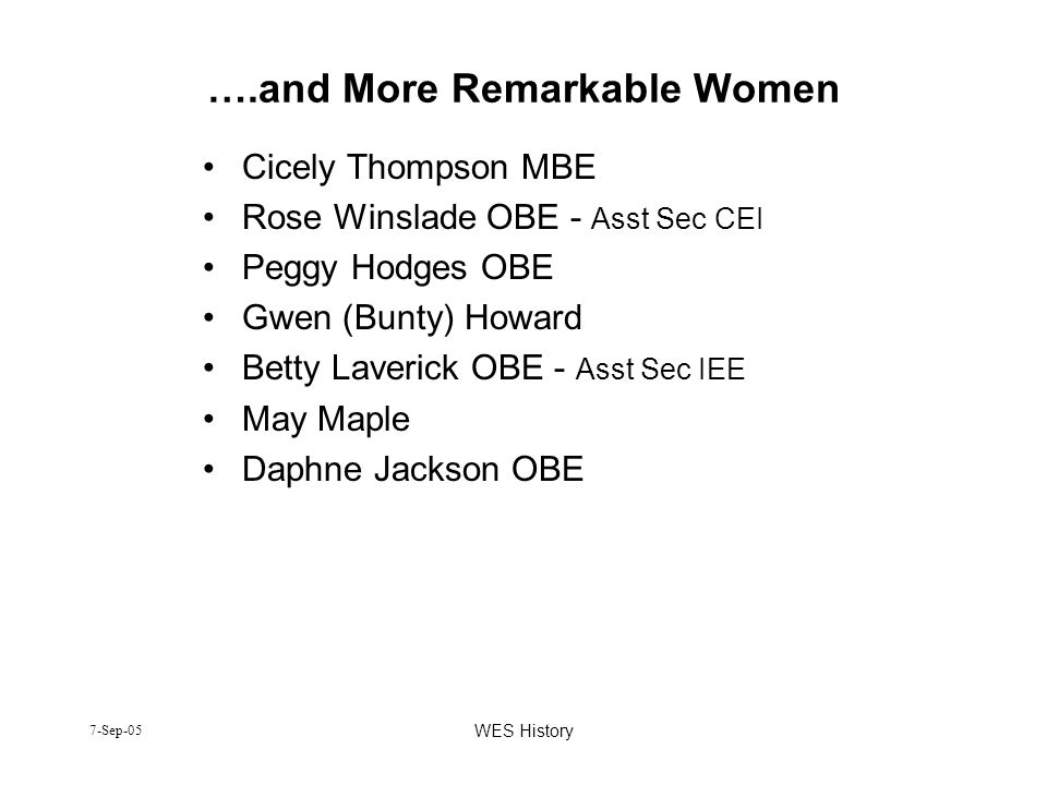 ….and More Remarkable Women