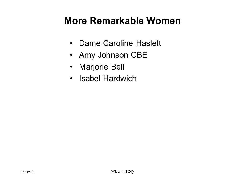 More Remarkable Women Dame Caroline Haslett Amy Johnson CBE
