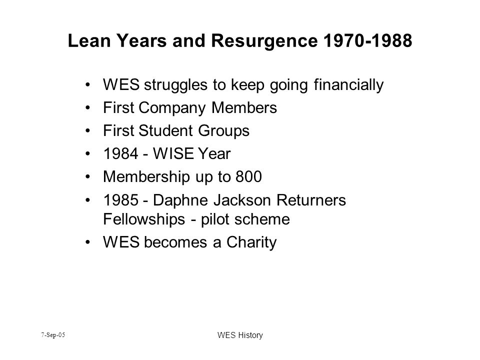 Lean Years and Resurgence 1970-1988
