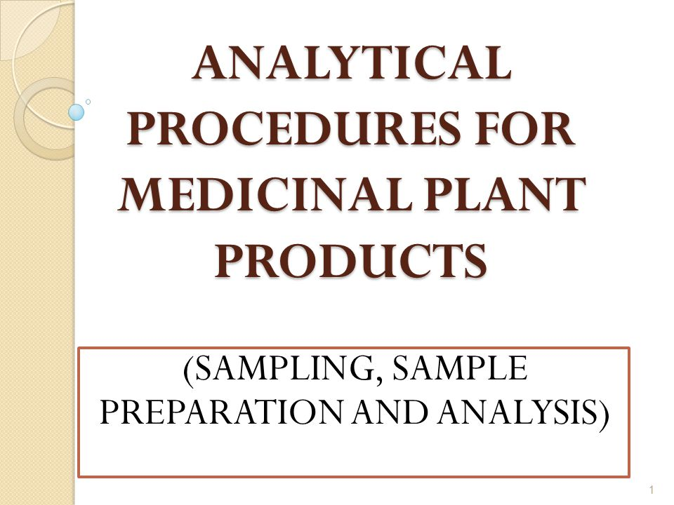 analytical procedures This course describes the major tasks associated with performing analytical procedures in a chemical lab it discusses qualitative and quantitative analyses, accuracy and precision, validation of procedures, and the use of standards.