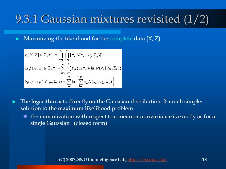 9.3.1 Gaussian mixtures revisited (1/2)
