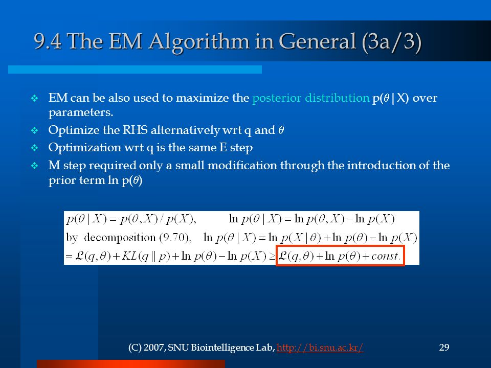 9.4 The EM Algorithm in General (3a/3)