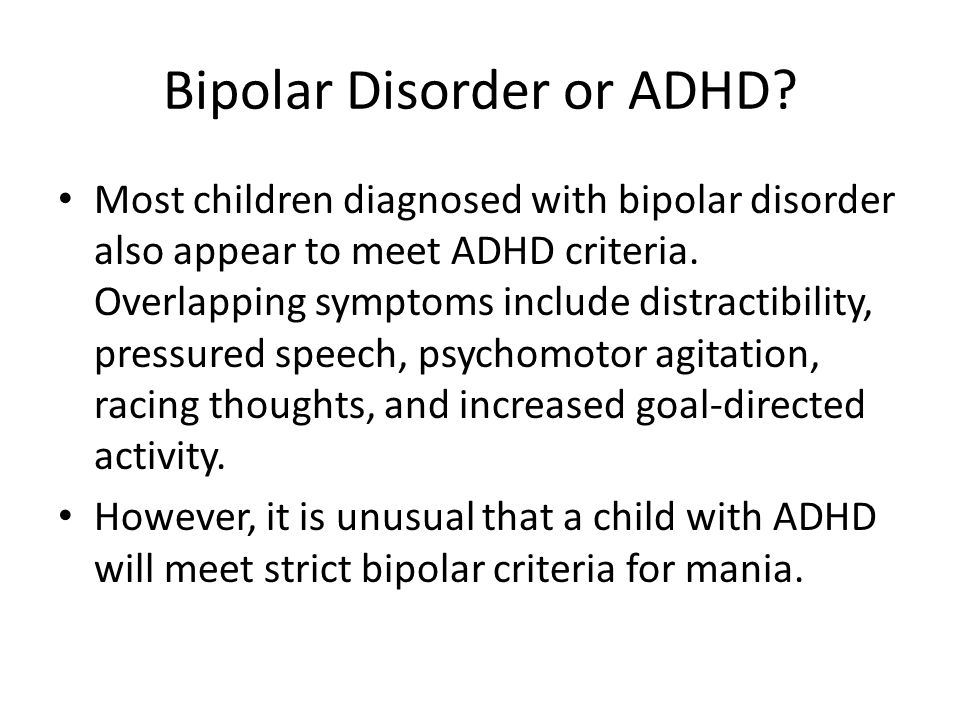 adhd and bipolar disorder in adults