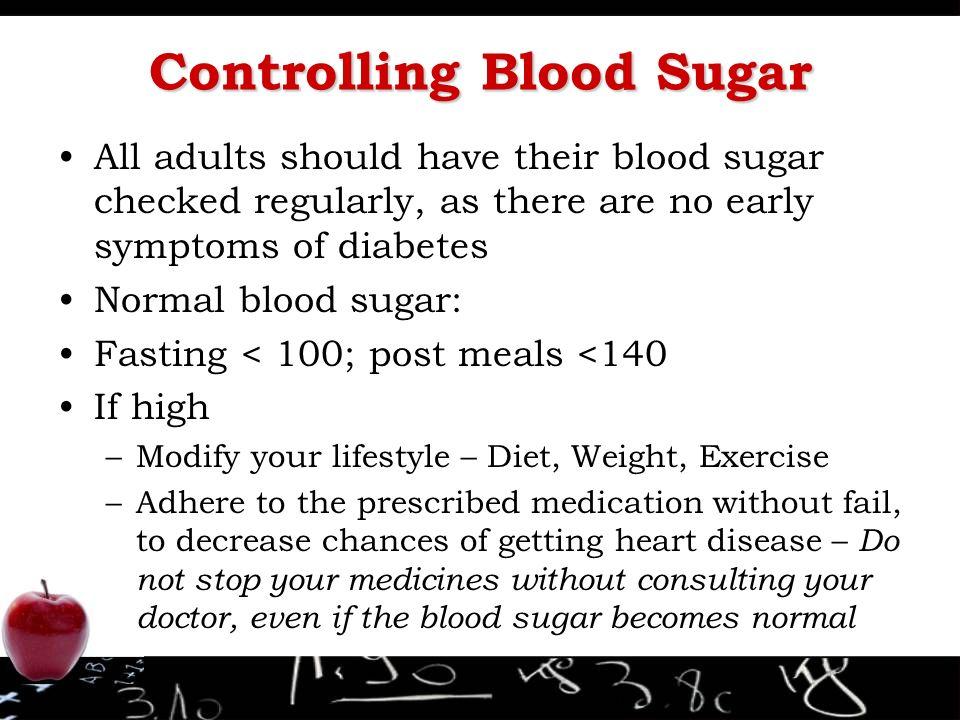 sugar early symptoms