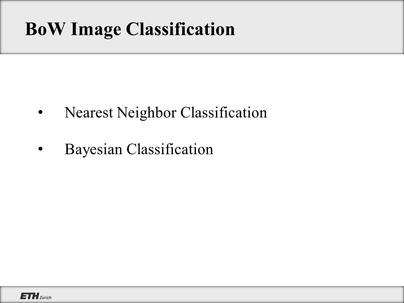 BoW Image Classification