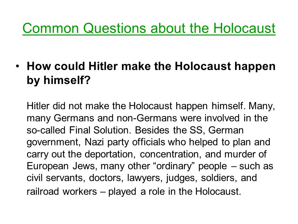 how could i prevent the holocaust Could we have stopped hitler in the enormous shadow of guilt that seized american jewry after the holocaust, the answer all too often has been.