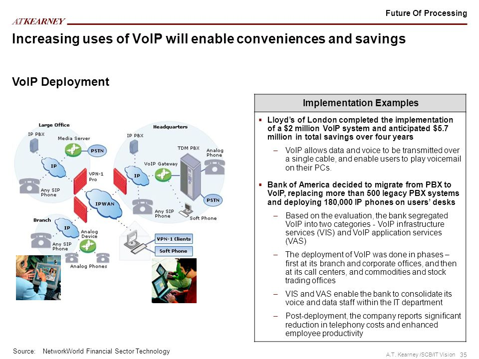 Increasing uses of VoIP will enable conveniences and savings