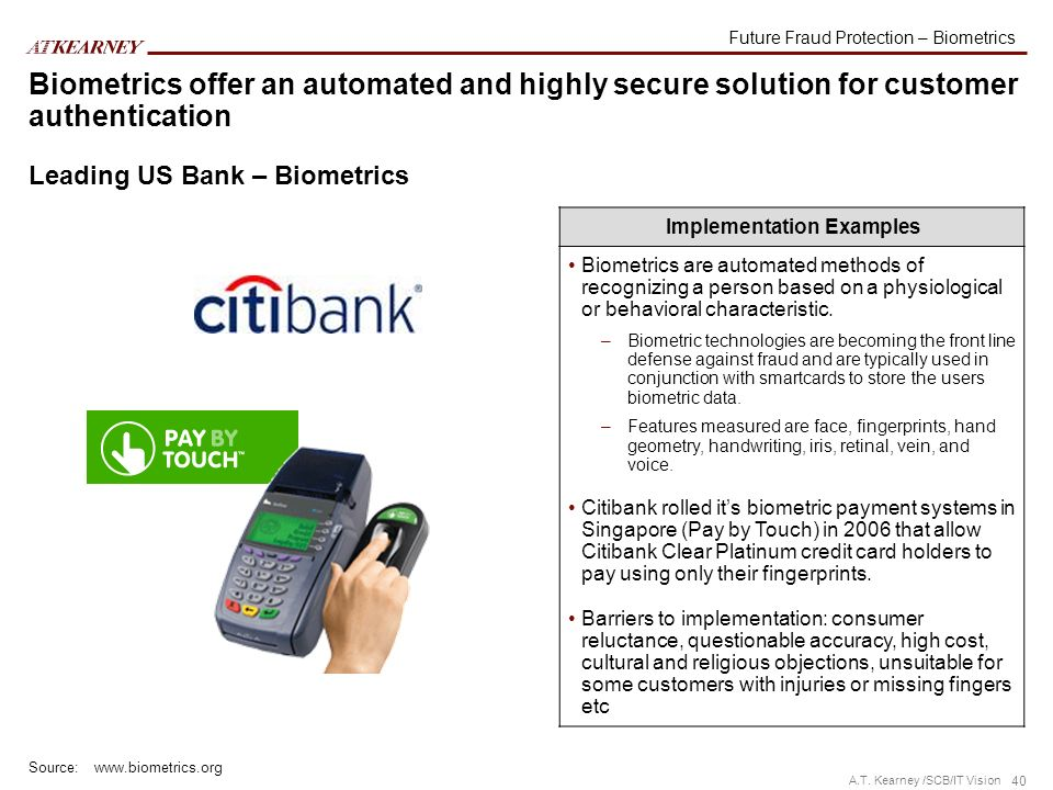 Future Fraud Protection – Biometrics