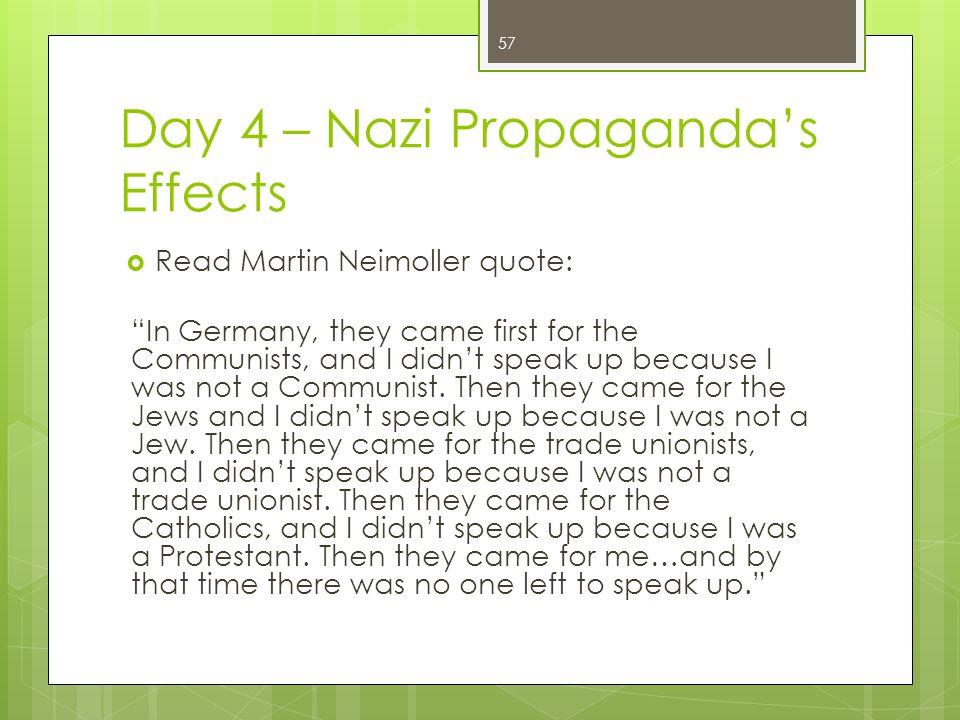 the effects of propaganda in nazi germany Free nazi germany papers, essays, and  propaganda in nazi germany 1930s - propaganda in  the effects of nazi rule on youth in germany - the effects of nazi.