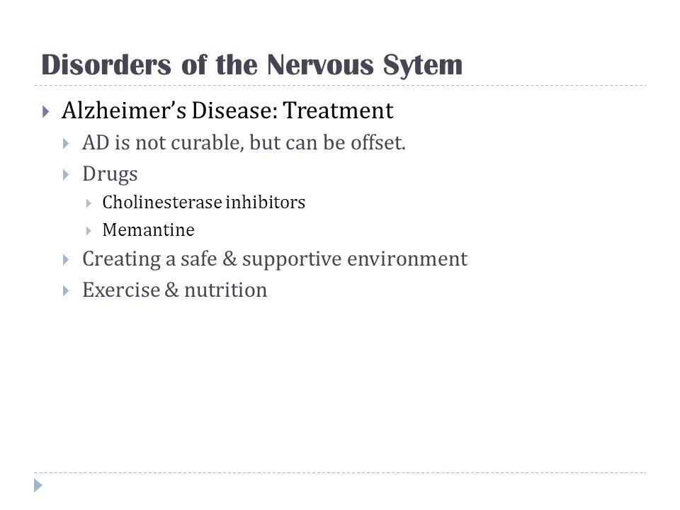 Disorders of the Nervous Sytem