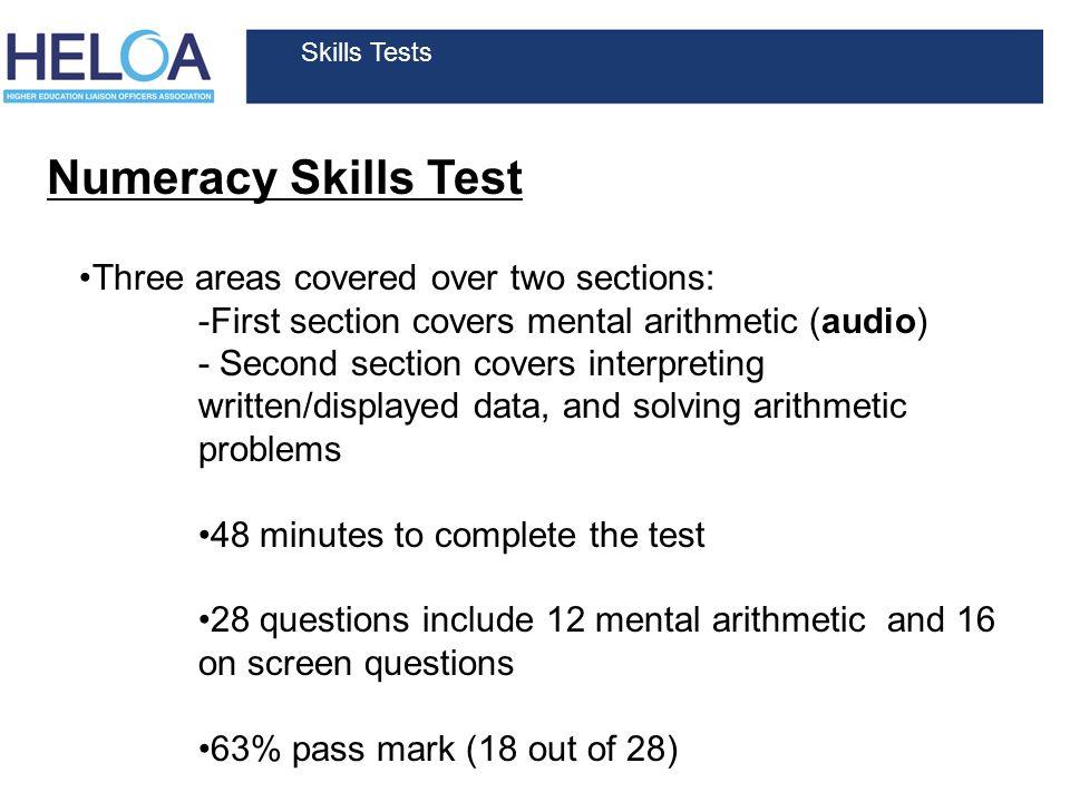 basic numeracy skills