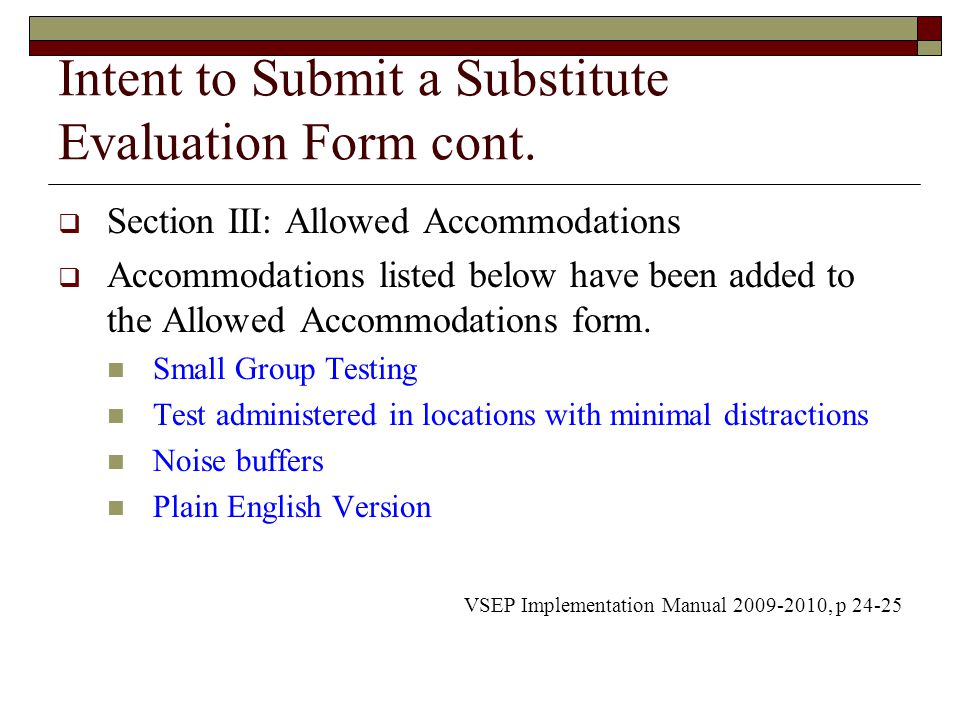 Virginia Substitute Evaluation Program  Ppt Video Online Download