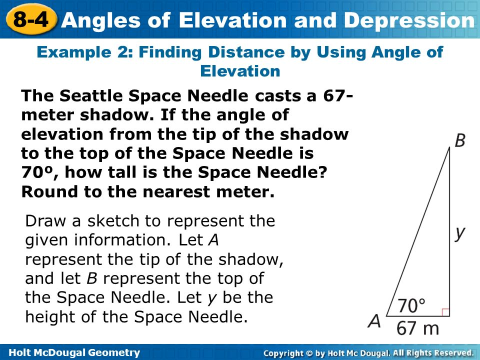 Example 2: Finding Distance by Using Angle of Elevation