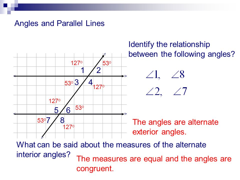 Angles and parallel lines ppt download Alternate exterior angles conjecture