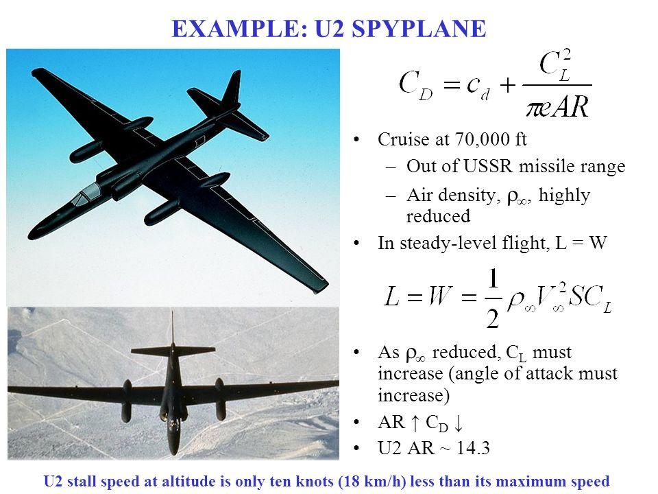 Lockheed SR-71 Blackbird EXAMPLE:+U2+SPYPLANE+Cruise+at+70,000+ft+Out+of+USSR+missile+range