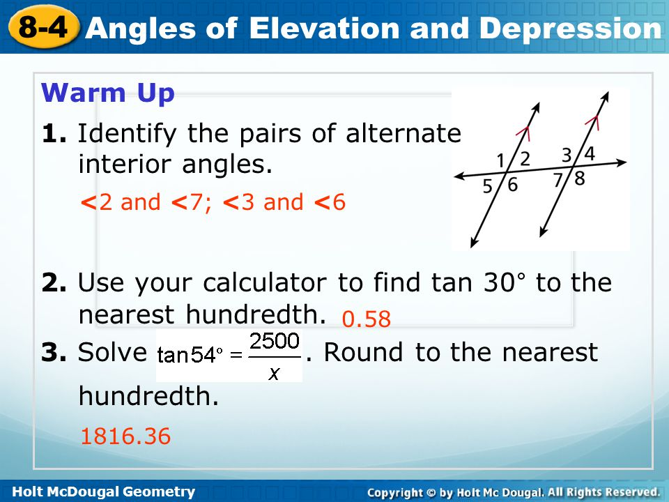 1. Identify the pairs of alternate interior angles.