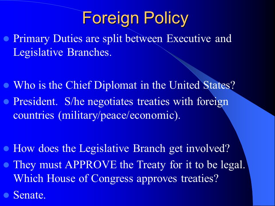 foreign and domestic affairs in the early united states A united states president's domestic policies include the civilian rights and  national  the foreign policy of george w bush: values, strategy, and.