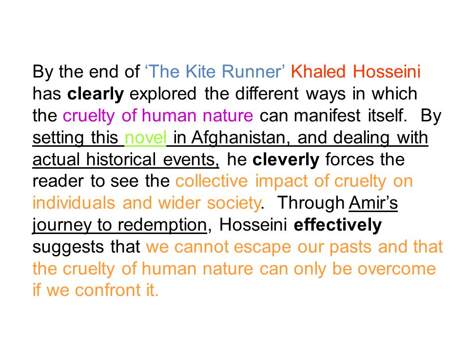critical essay for the kite runner