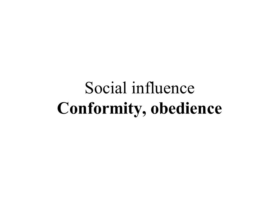 essays on social influence conformity Factors that influence conformity conformity can be defined as a adjusting of behavior to fit the social norms of a group of culture in one's life.