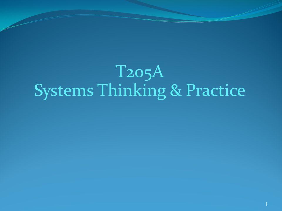 t205a system thinking T205a - t205b - t306a - t306b systems thinking : principles and practice ii t205b اللي يواجهــون صعـوبة في فهم المـادة.