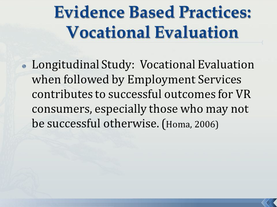 the role of evaluation in vocational Home what is the role of the vocational expert what is the role of the vocational expert free claim evaluation name email address phone message email.