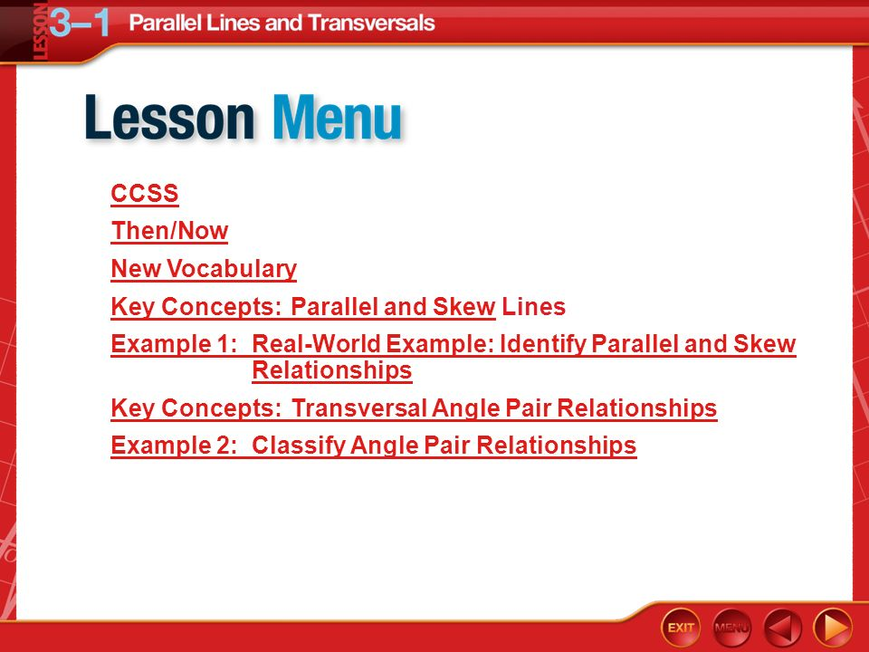 Key Concepts Parallel And Skew Lines Ppt Video Online Download
