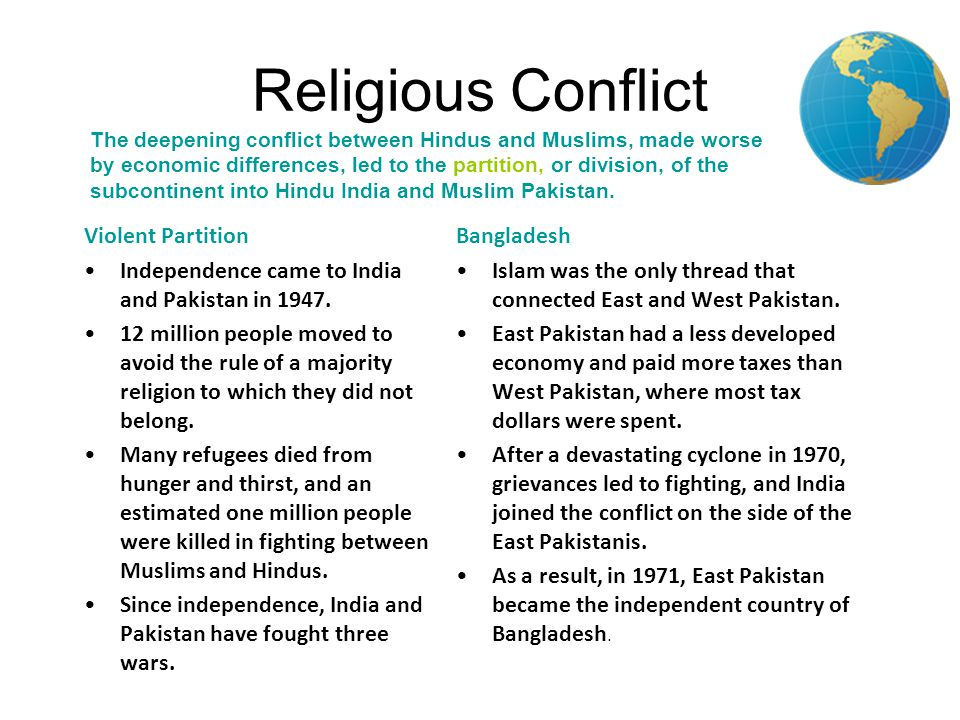 religion brings more conflict to the On their face, these statistics seem to suggest that a little more than half of the  ( 1) to what extent does conflict between religion and science.