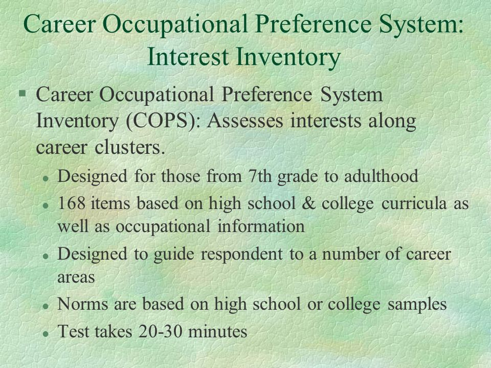 career preference