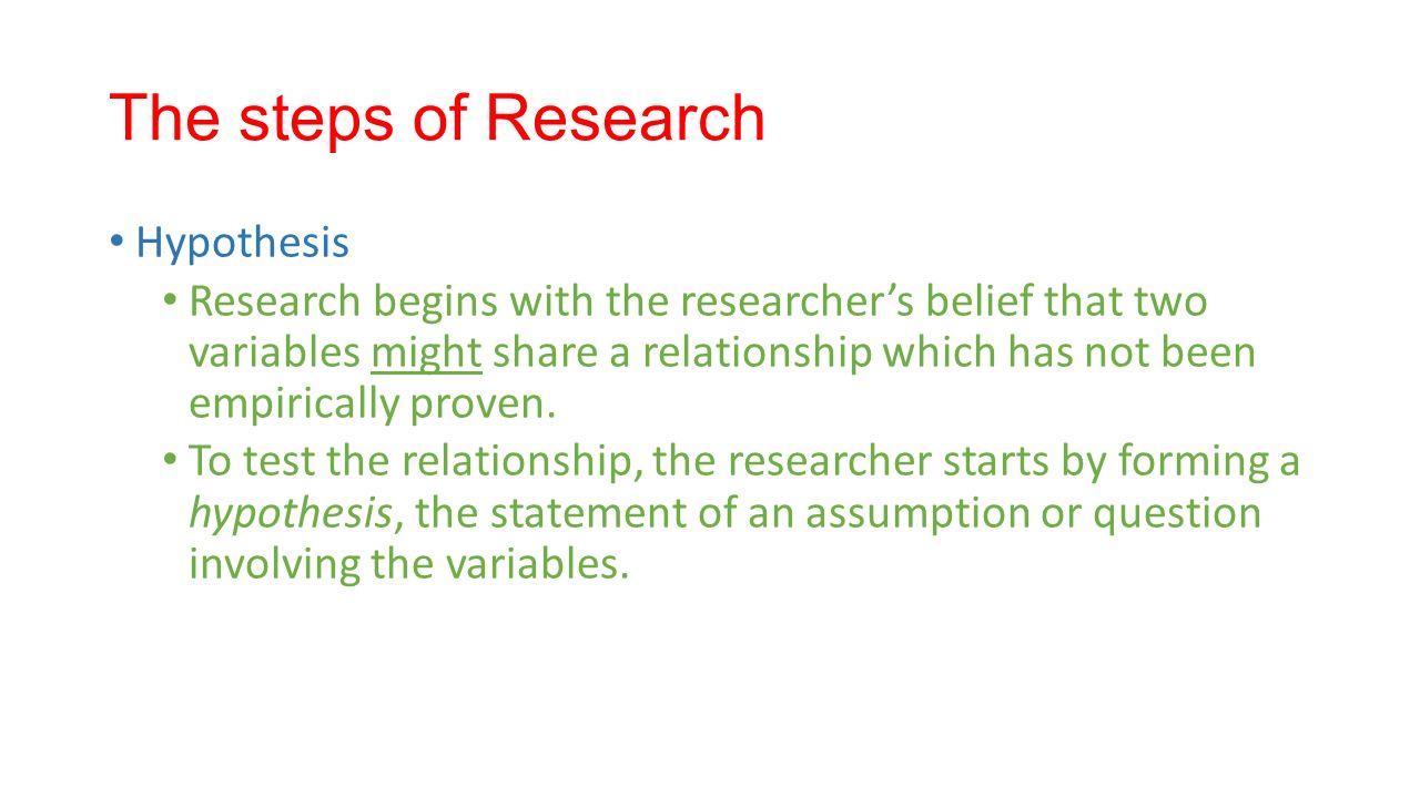 how to create a hypothesis for research