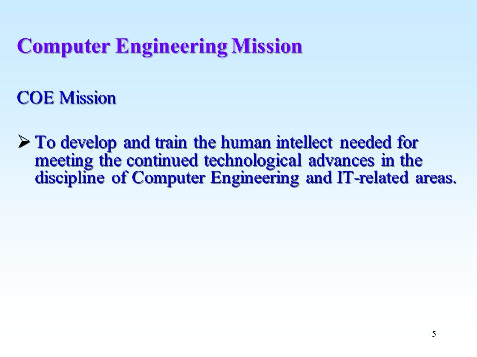 Computer Engineering Mission