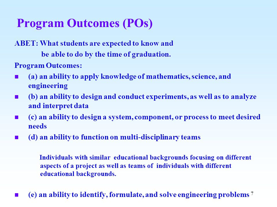 Program Outcomes (POs)