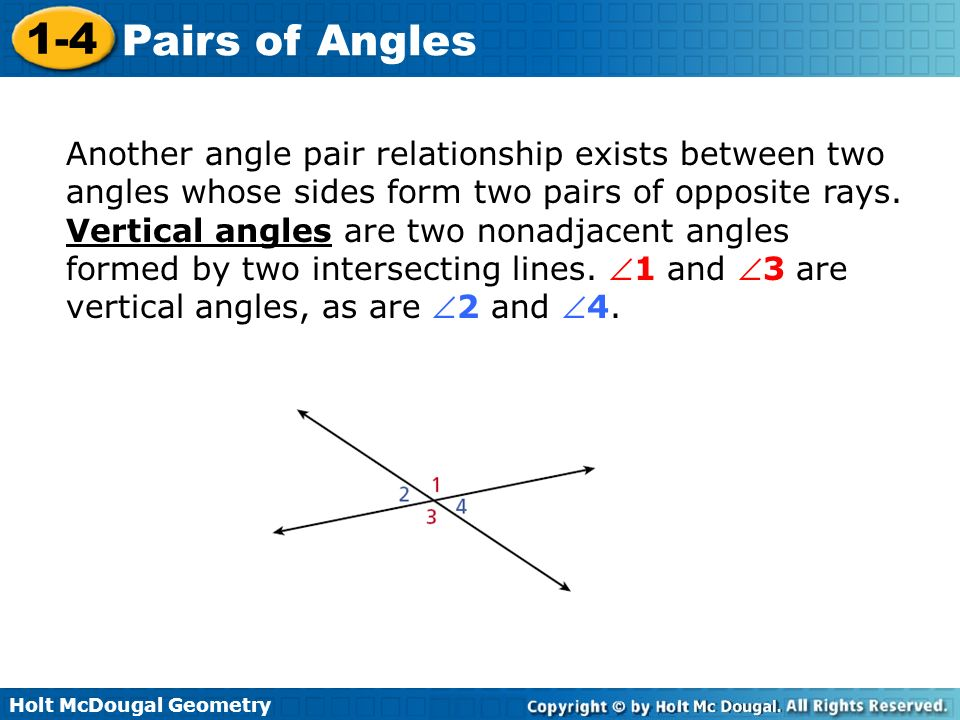 how to find an angle between two lines