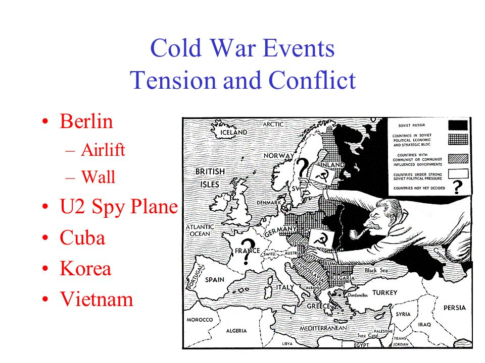what events heightened cold war tensions Growing out of post-world war ii tensions between the two nations, the cold war   heightened tensions and a series of international incidents that brought the.