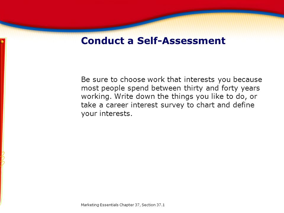 Conduct a Self-Assessment
