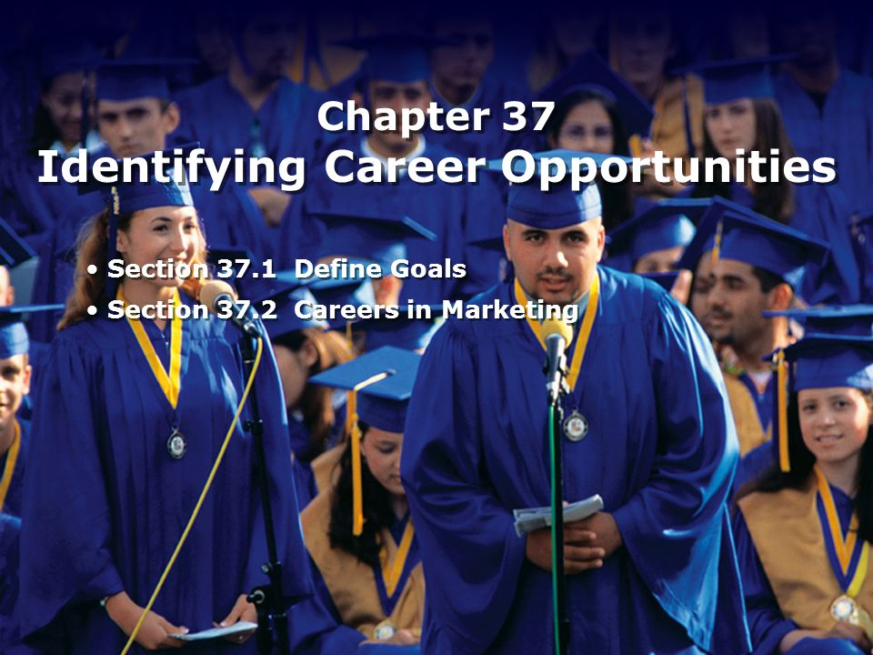 Chapter 37 Identifying Career Opportunities