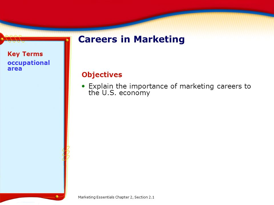 Careers in Marketing Objectives