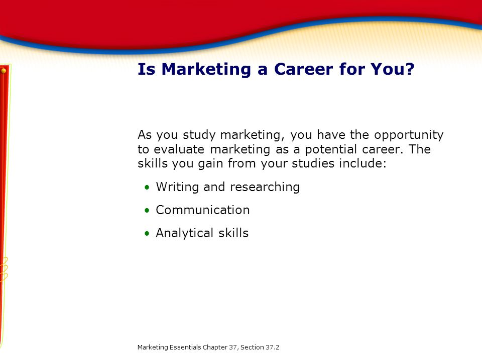 Is Marketing a Career for You