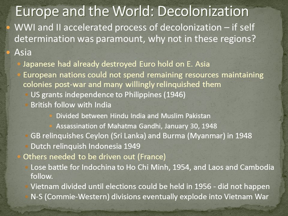 Decolonization and the Collapse of the British Empire