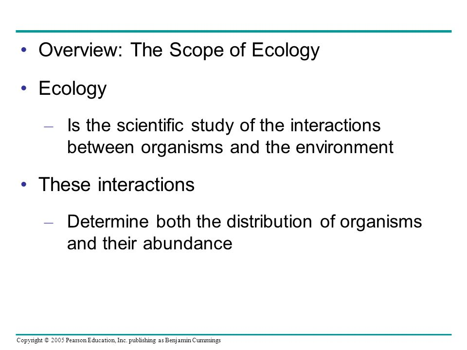 overview of ecology Ecology is a critical component of biology in some sense, it is the place where everything we have learned up until now fits together and functions in the real world .