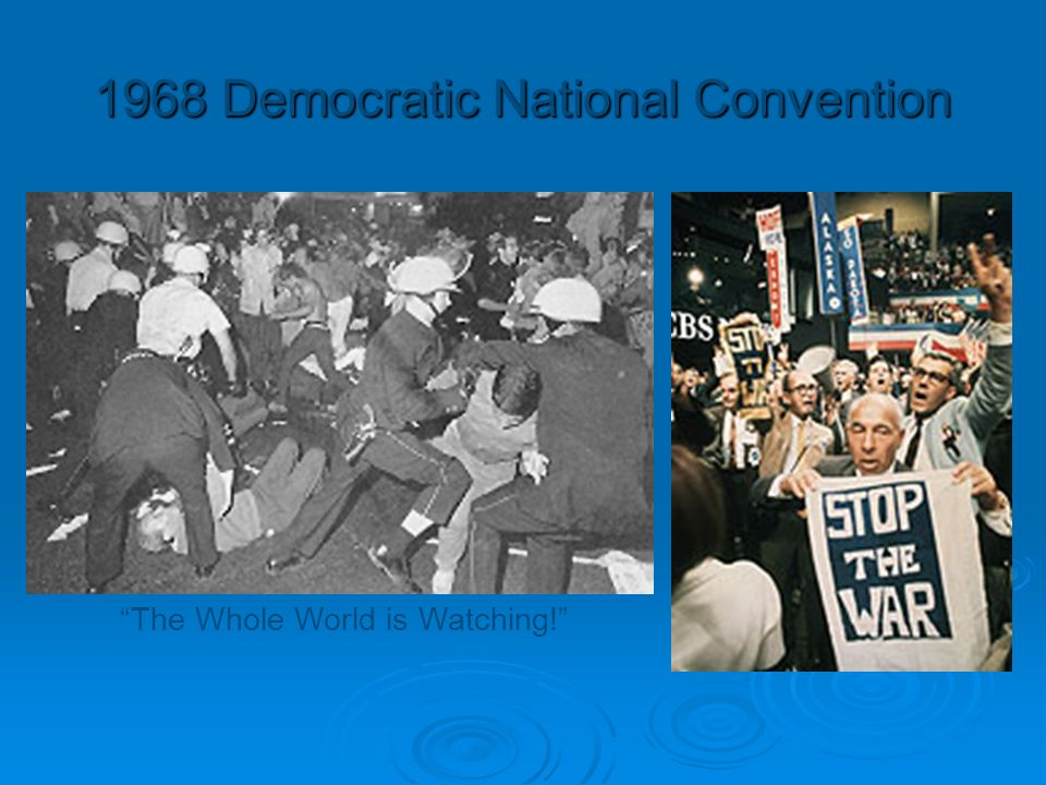 democratic national convention 1968 As delegates arrived in chicago the last week of august 1968 for the 35th democratic national convention, they found that mayor richard j daley, second only to president lyndon b johnson in.
